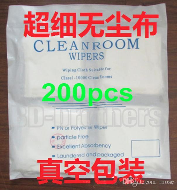 200 قطعة / الحقيبة 9x9 سنتيمتر غرف الأبحاث مساحات تنظيف القماش مناديل ورقة الاستنسل wping ورقة