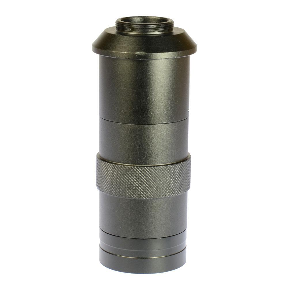 Freeshipping Industry Lens 8X -100X Aumento Ajustable 25mm Zoom C-Lente de cristal para lente de la industria Microscopio Cámara Ocular Lupa