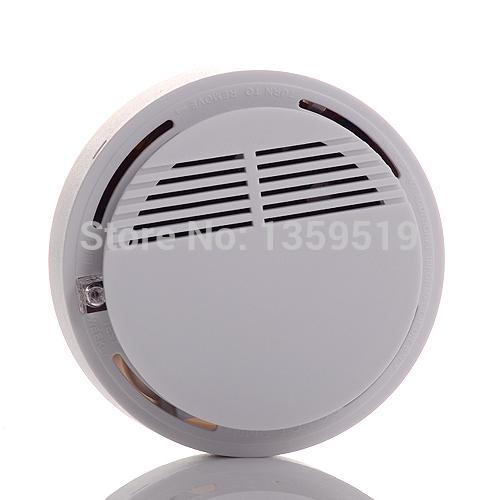 Wireless Fire Smoke detector sensor alarm Home Security System White in retail package dropshipping 200pcs/lot