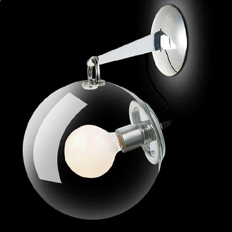 Бар 1 PCS стены Бра свет ретро Промышленные настенные лампы Гостиничные номера Проект спальни Кафе стеклянная стена освещение Новизна Мыльный пузырь лампа для чтения
