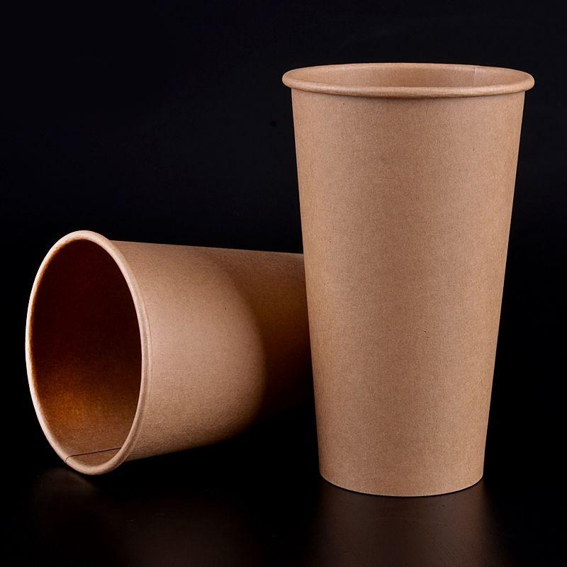 المتاح ورقة كأس القهوة صديقة للبيئة 8 أوقية 12 أوقية 16 أوقية سميكة شرب حليب الشاي كأس عيد الميلاد حزب drinkware 100 قطعة / الوحدة SK715