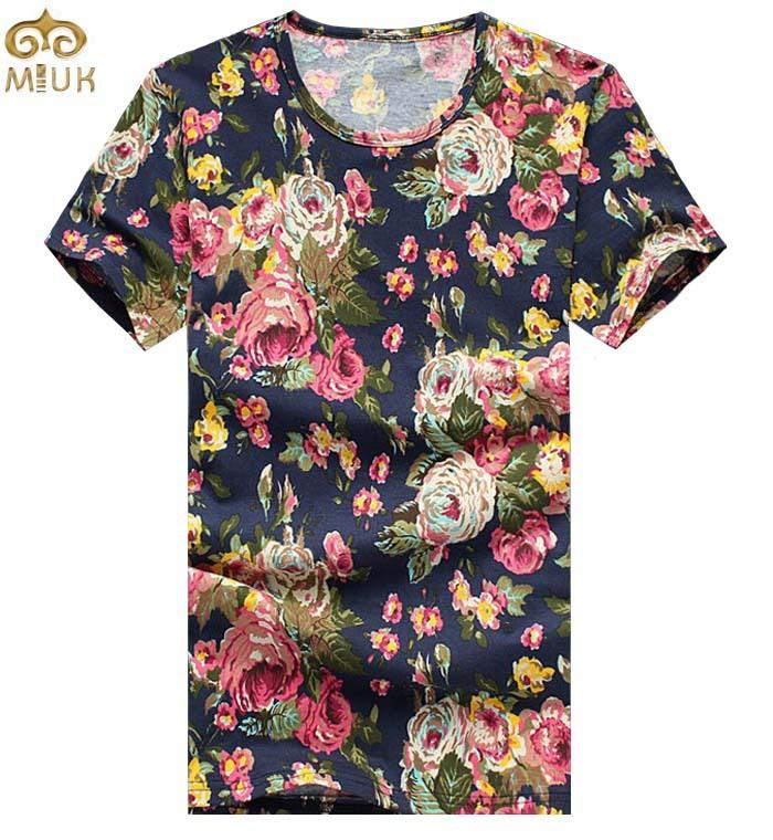 Images of Mens Floral T Shirt - Fashion Trends and Models