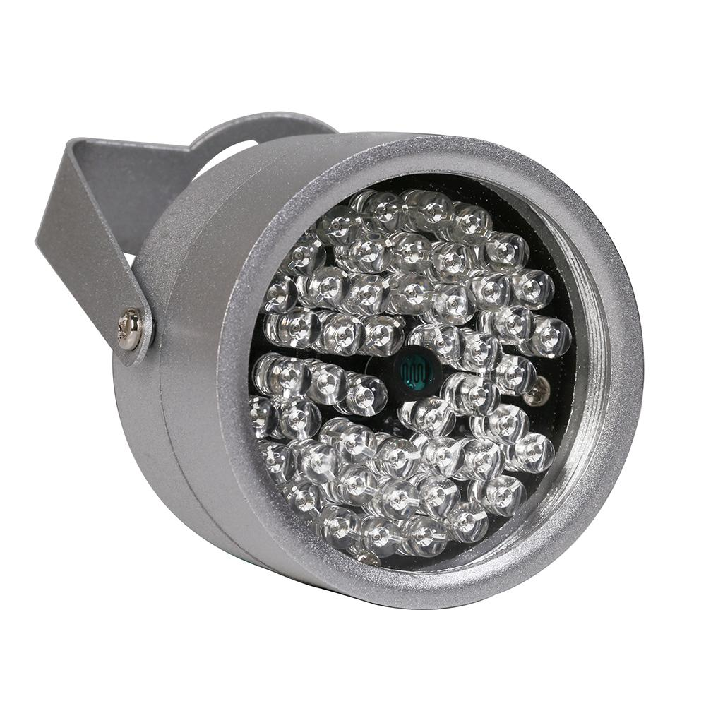 850nm 48 ir led المنور ضوء ir للرؤية الليلية ل كاميرات cctv الأمن ملء الإضاءة معدن رمادي قبة شحن مجاني