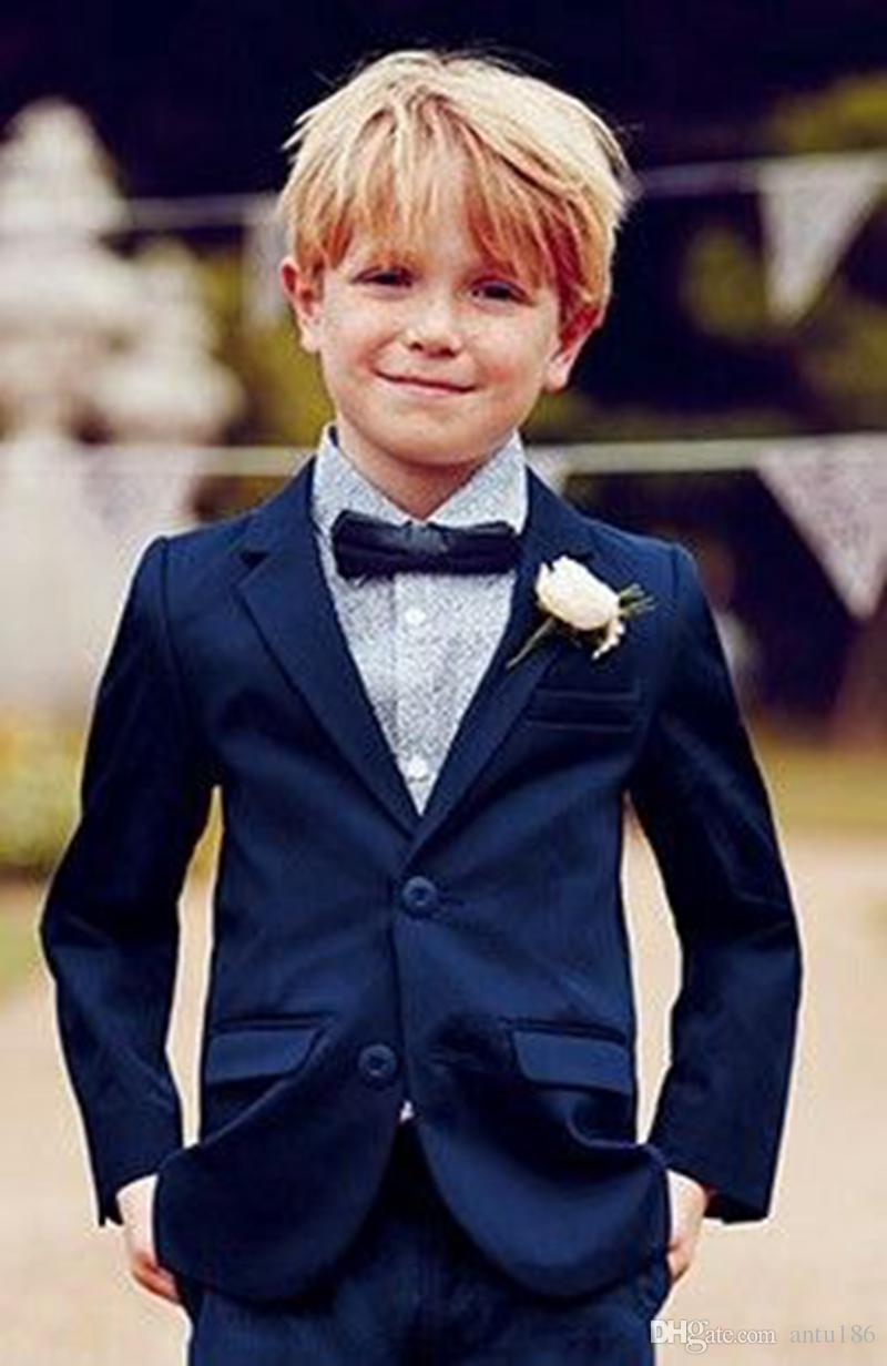 Page Boy Groomsmen Suit Tailored Child Formal Wear Evening Proms Party Tuxedos