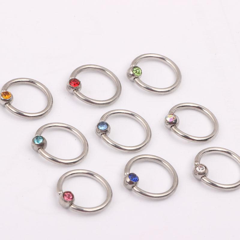 عصابة الأنف N21 مزيج 10 الألوان 100pcs / lot هيئة المجوهرات الصلب والمجوهرات الأنف