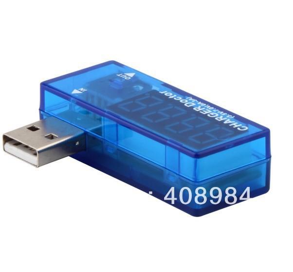 배송 FEDEX UPS DHL TNT USB 충전기 의사 모바일 배터리 테스터 전원 감지기 전압 전류 미터