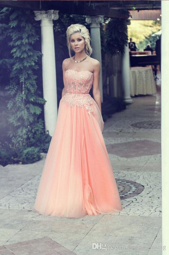 Slim Pink Long Prom Dresses