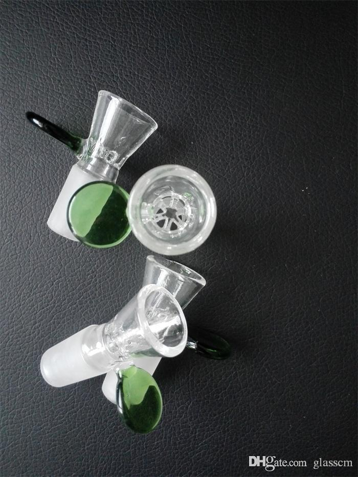 Dfd14mm 18mm männliche glas schüsseln glas wasser rohr fittings griff grün oder blau farbe schüssel versandkostenfrei