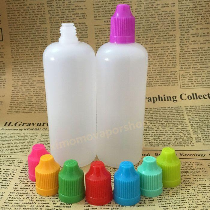 2017 120ml E Liquid bottle PE Translucent Empty E-Juice Needle LDPE 120 ml Plastic Bottles with Child Proof Caps Long Thin Tip
