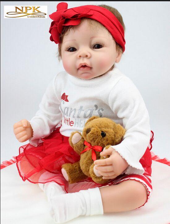 Nueva venta caliente 22 pulgadas de silicona Reborn Baby Dolls Hobbies realistas Hecho a mano Brinquedos Newborn Doll Bebe BJD Doll Reborn