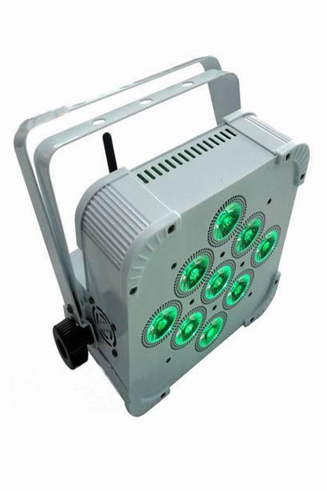 Freies Verschiffen heißes verkaufendes 2015 drahtloses batteriebetriebenes geführtes dünnes Gleichheitslicht mit 9 * 15w RGBWA + UV 6-in-1