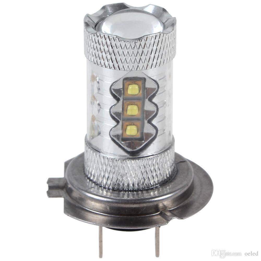 80W H7 CREE Chip High Bright 16 x LED Car Fog light Car Fog lamp with 360 Degrees Car Foglamp Head Driving Daytime Running Light