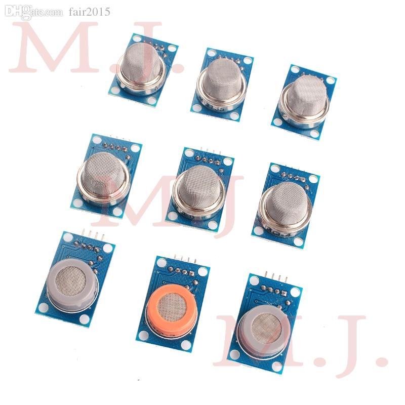 Großhandels-Gasdetektionsmodul MQ-2 MQ-3 MQ-4 MQ-5 MQ-6 MQ-7 MQ-8 MQ-9 MQ-135 jedes von ihnen 1pcs insgesamt 9pcs Sensor für arduino-Kit