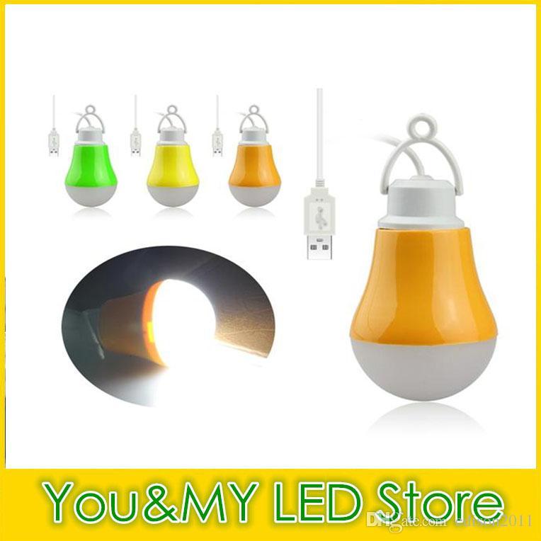 Mobile LED Lampa Lampa Lampa z interfejsem USB Linia kablowa kablowa dla Banku Power Bank Outdoor Camping USB LED Żarówka
