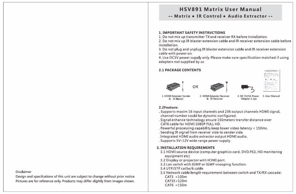 hdmi extender 2016 new hdmi matrix support 1080p hdmi extender with IR remote control original factory hdmi matrix