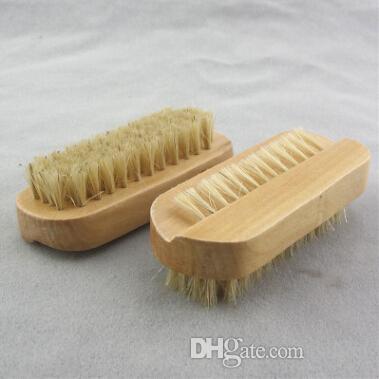 Природные Кабан щетиной кисти деревянные ногтей кисти или ноги чистой щеткой тела массаж скруббер бесплатная доставка
