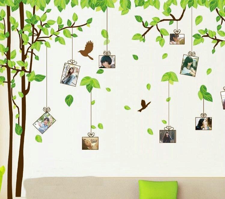 180 * 300 سنتيمتر الأخضر شجرة ملصقات الحائط المنقولة جدار عصا الأسرة جدار الكرتون الشارات للأطفال اللعب
