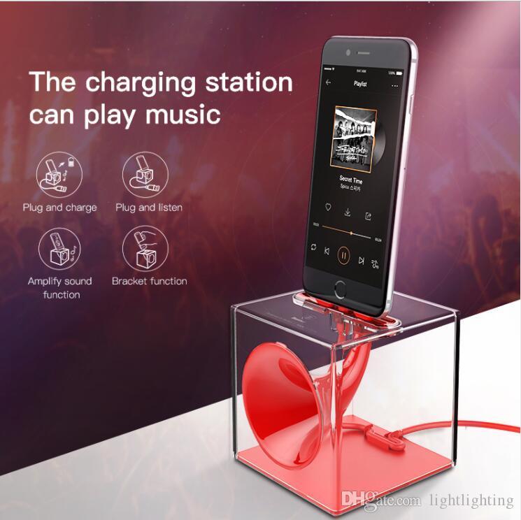 Dock Station Charger For iPhone 7 6 6s Plus se 5 5s Speaker Desktop Charging Station Docking Holder Stand For iPhone