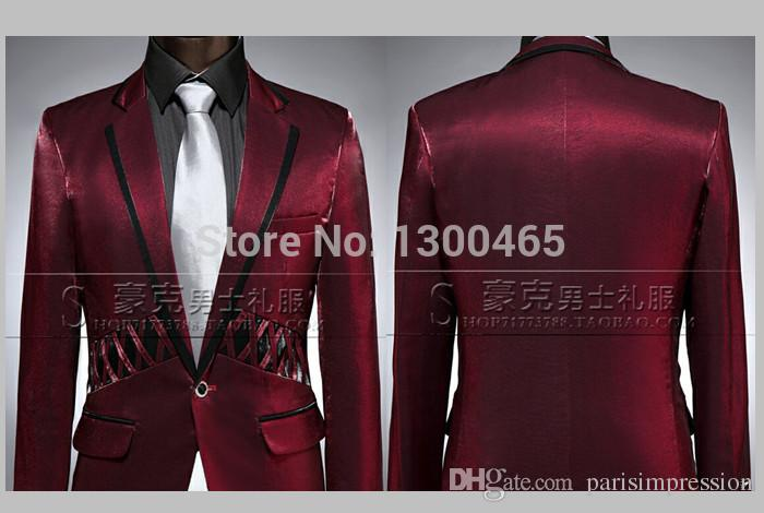 Jackets   Pants 2015 New Men Prom Business Suit Custom Sequined