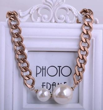 природный жемчуг кулон ожерелье золотая цепь (xgspc)