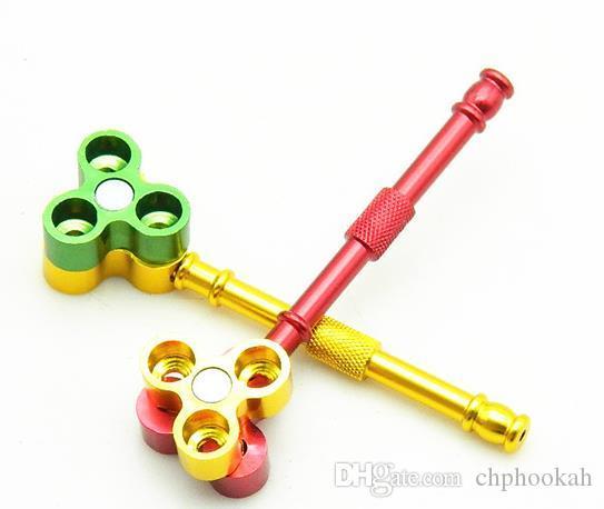 La nouvelle forme de tuyau de balle trois Tuyaux portables en métal multicolore Emafh