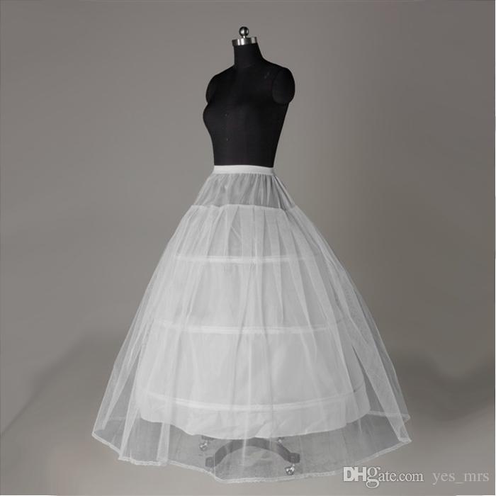 진짜 이미지 화이트 3-HOOP 신부 웨딩 드레스 신부 크리노린에 대 한 Petticoats vestido de noiva