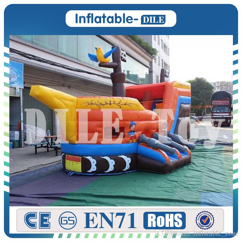 Free shipping Inflatable pirate Ship Bouncy Castle, inflatable Bouncer house, Pirate Boat Inflatable Bouncer for sale