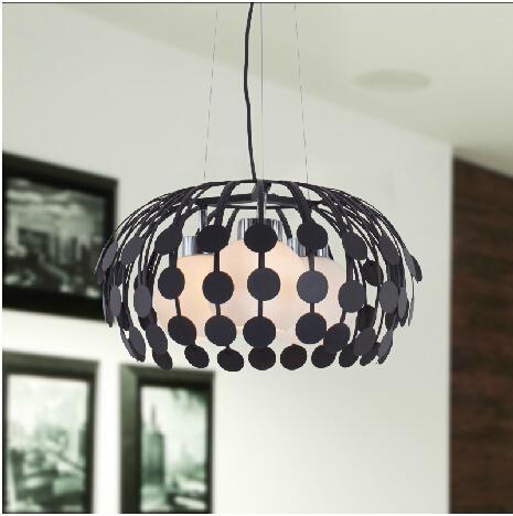 Royal Black / white Modern Lampada a sospensione a tre capi in vetro creativo a sospensione