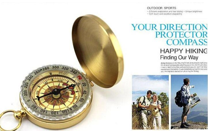 Lowest Price Delicate Brass Pocket Watch Style Outdoor Camping Compass wholesale Golden Classic Antique