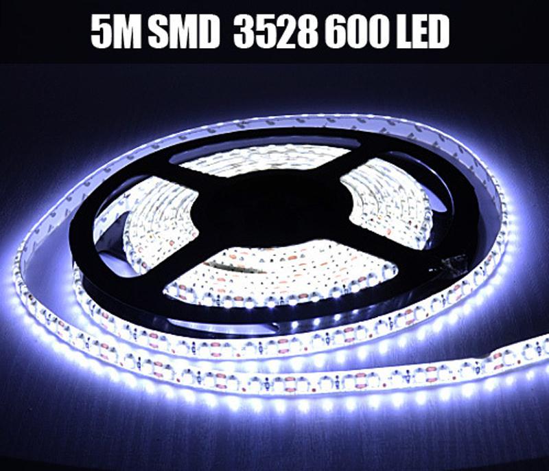 IP65 wasserdicht 5m 3528 SMD 12V flexibles Licht 120 LED / m, LED-Streifen, weiß / warmweiß / blau / grün / rot / gelb