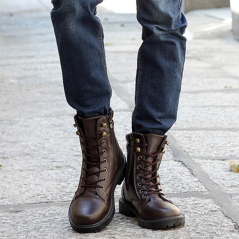 Cheap 2017 New Winter Men Boots Rubber Men\'S Casual Boots Flat ...