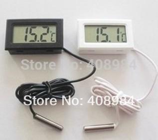 Бесплатная доставка Цифровой Термометр Гигрометр Холодильник с Морозильной Камерой Измеритель Температуры И Влажности