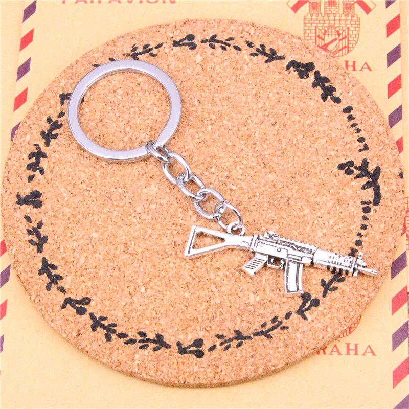 Keychain machine gun assault rifle Pendants DIY3 Men Jewelry Car Key Chain Ring Holder Souvenir For Gift