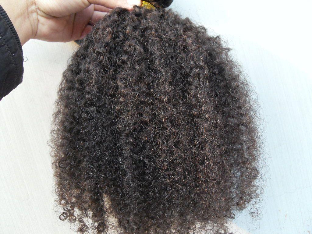 Nuovo arriva Capelli ricci umani brasiliani di trama Clip In 9pcs estensioni dei capelli umani naturali, non trasformati colore nero / marrone / set Afro crespo Curl