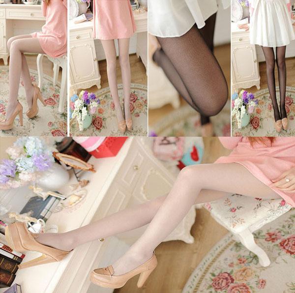 جوارب طويلة الحجم بالإضافة إلى جوارب نايلون رفيعة رفيعة شفافة ذات 5D للنساء