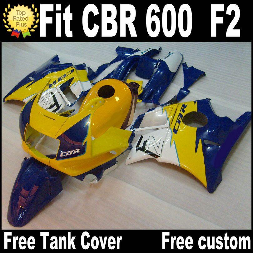 Бесплатные 7 подарков для Honda CBR 600 F2 Custom Castings 1991 1992 1993 1994 Yellow Blue CBR600 91 - 94 обтекатель RP10