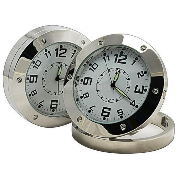 HD 1280*960 mini Clock Camera DVR520 Motion Detection round Clock Pinhole camera mini DVR Clock Security Cam Stainless Steel
