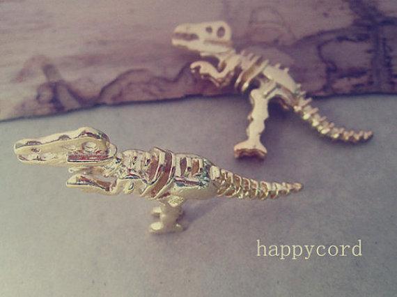 Dinosaurus hanger charms voor sieraden maken 21mmx56mm, goud, zilver en brons gemengde kleur 10pcs / lot