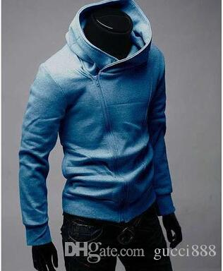 DORP TRANSPORTE 2015 HOT Brand New zíper Diagonal Hoodies dos homens Moletons Casaco Jaqueta Tamanho M, L, XL, XXL, XXXL