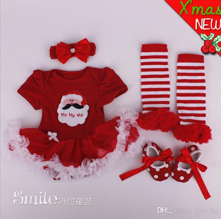 UK Kids Newborn Baby Girls Christmas Clothes Gift Santa Tutu Skirt Dress Outfits