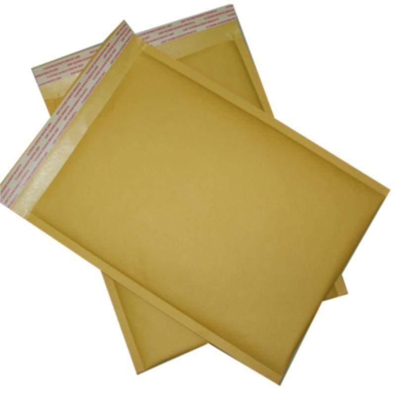 240 мм * 360 мм 9,5 дюйма * 14,2 дюйма желтого крафт-почтовых мешок Bubble Mailer Конверты рассылки бесплатная доставка