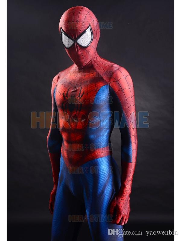 2015 Spider-Man Costume 3D Printing Spandex Fullbody Spiderman Superhero Costume For Halloween Cosplay Hot Sale Zentai Suit Free Shipping