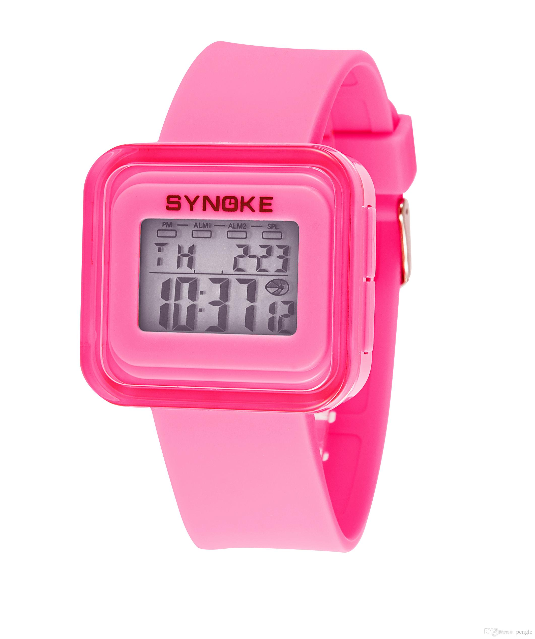 New Fashion Women Men Digital Watches Sports Electronic Luminous Watches Strap Square Dial LED Watch