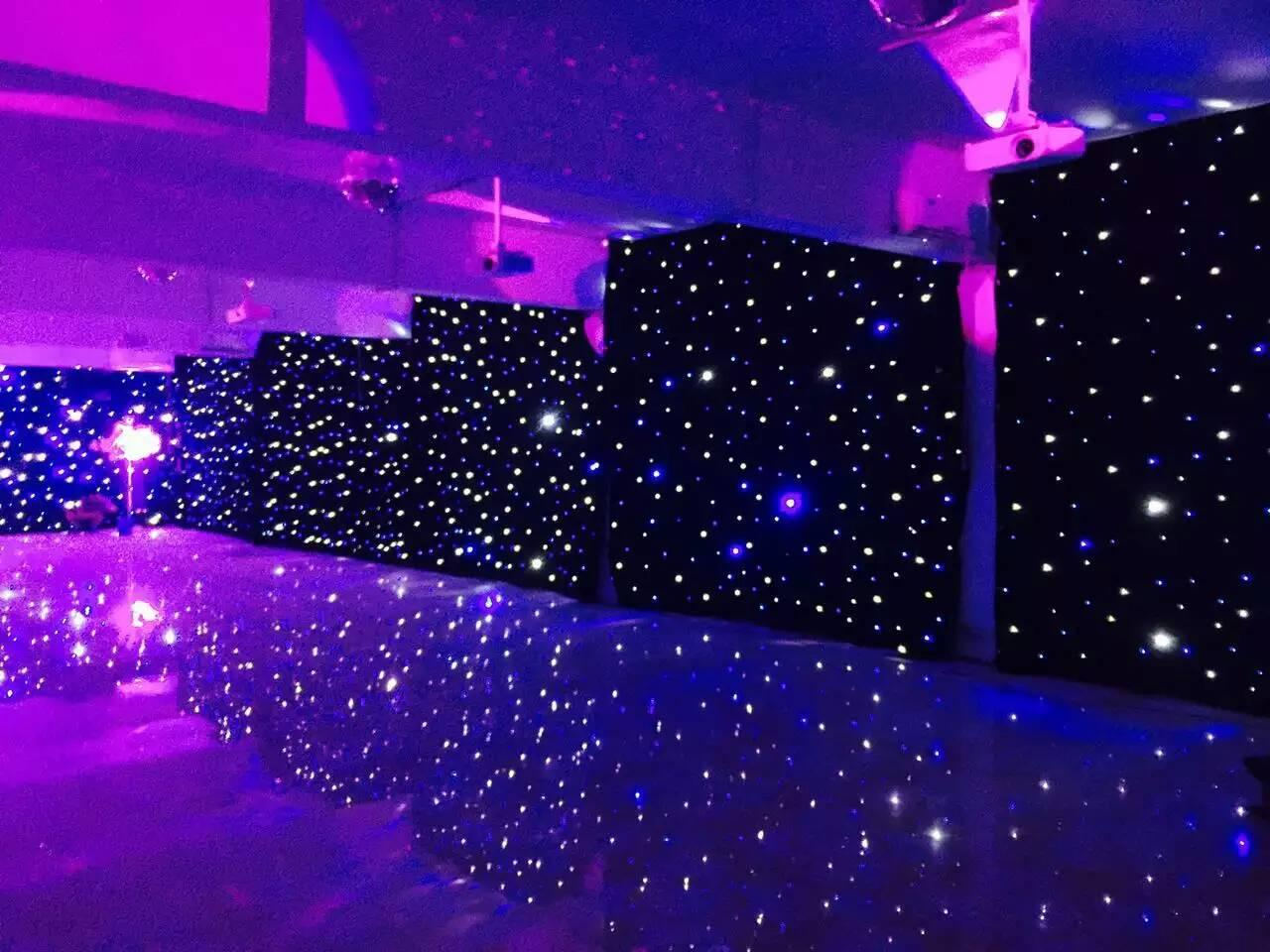 2019 3mx6m LED Wedding Party Curtain LED Star Cloth Black Stage Backdrop  LED Star Cloth Curtain Light Wedding Decoration From Ok360, $484.7
