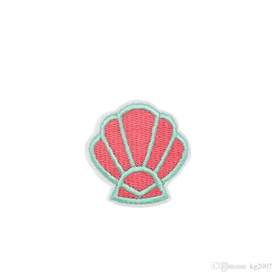Shell Patch Iron Sew On Clothes Bag Crafts Embroidered Badge Embroidery Applique