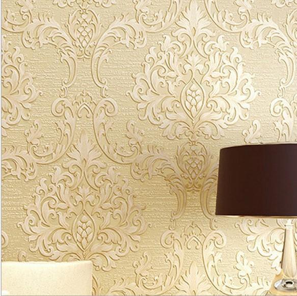 Großhandel 2015 Begrenzte Tapete Wall Europäischen Damaskus Wallpaper 3D  Stereoscopic Thick Hintergrund Wall Paper Das Wohnzimmer Schlafzimmer Von  ...