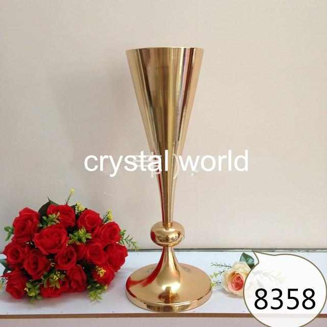 Высокий золотой психического цветок стоит свадьба 698672 стол центральные для свадьбы украшения 3