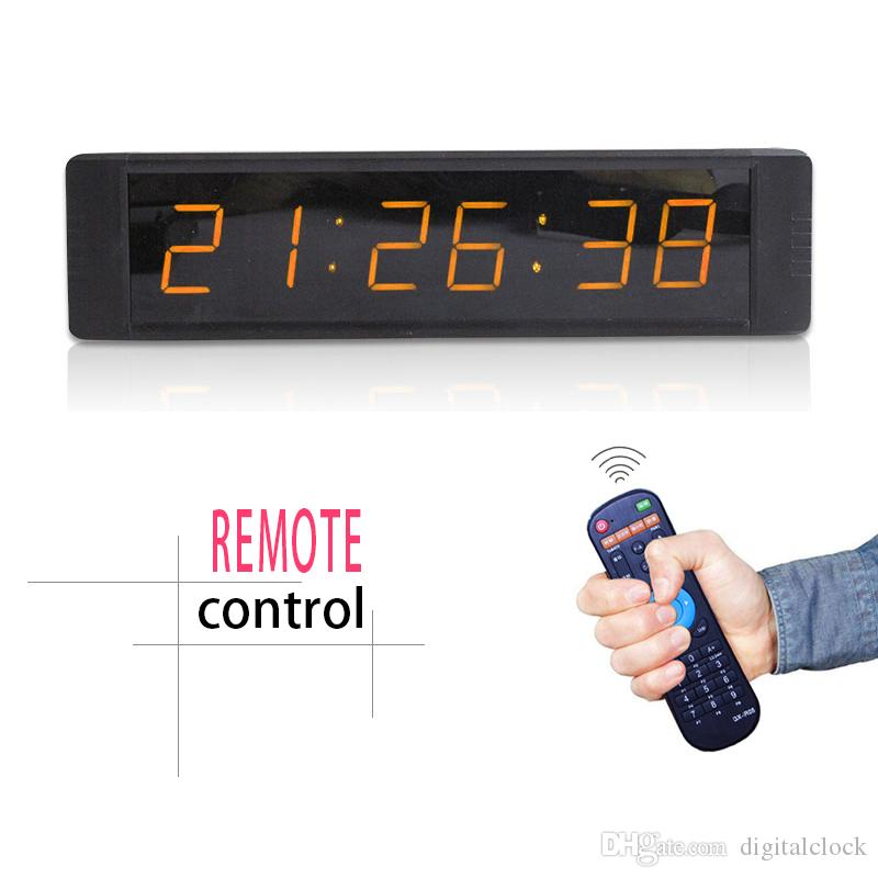 [Ganxin] Mini 1inch 6 Digits 7 Segment Led Display Clock Support Countdown/up Digital in Amber/White Tube for Indoor Alarm Wall Clock