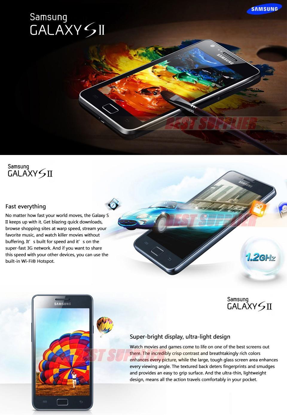 I9100 Unlocked Original Samsung GALAXY SII S2 I9100 Cell Phone Android 2 3  Wi Fi GPS 8 0MP Camera Dual Core 4 3'' Refurbished Refurbished Mobile