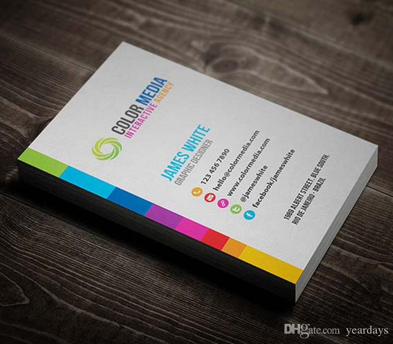 2016 Cheapest 100pcs/Lot Customized Business Cards Visit Cards ...